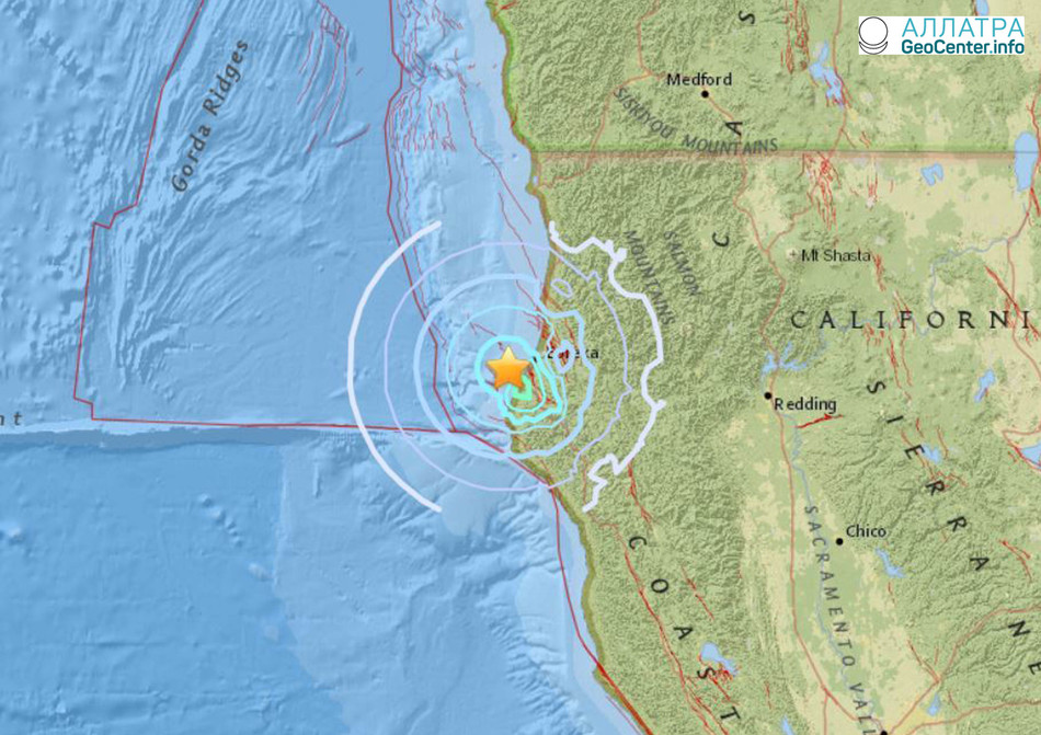 Землетрясения из 24 толчков в Калифорнии, март 2018 года
