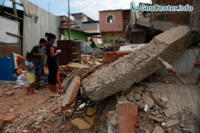 Сильное землетрясение в Эквадоре, 1 июля 2017