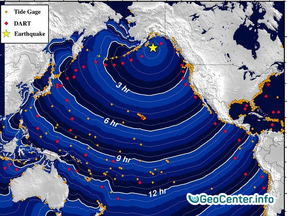 Угроза цунами: на Аляске произошло сильнейшее землетрясение.