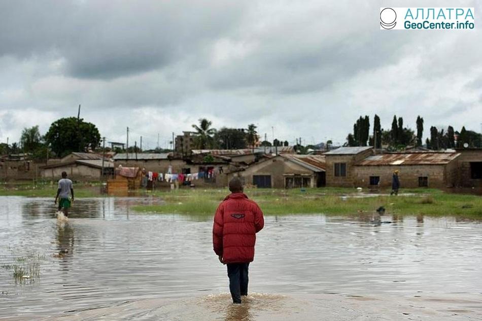 Наводнения в Танзании, Восточная Африка, апрель 2018 г.