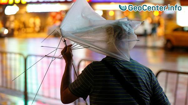 Тайфун «Несат» обрушился на Тайвань, июль 2017