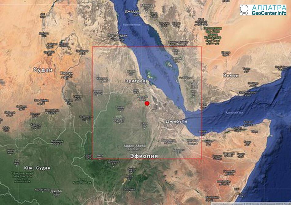 Землетрясение магнитудой 5,2 произошло в Эфиопии, март 2018 года