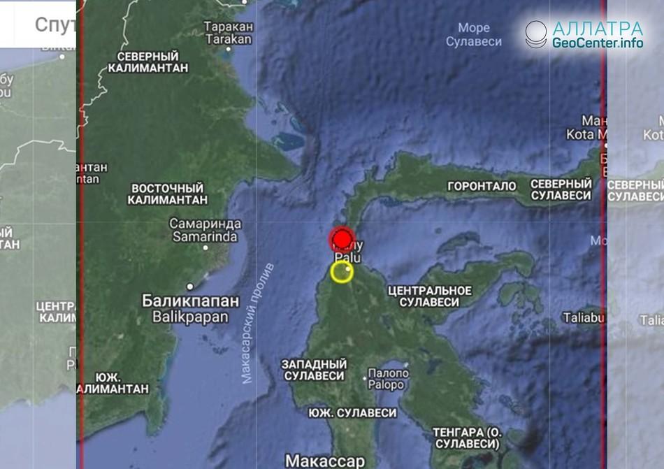 Сильное землетрясение в Индонезии утром 28 сентября 2018 г.