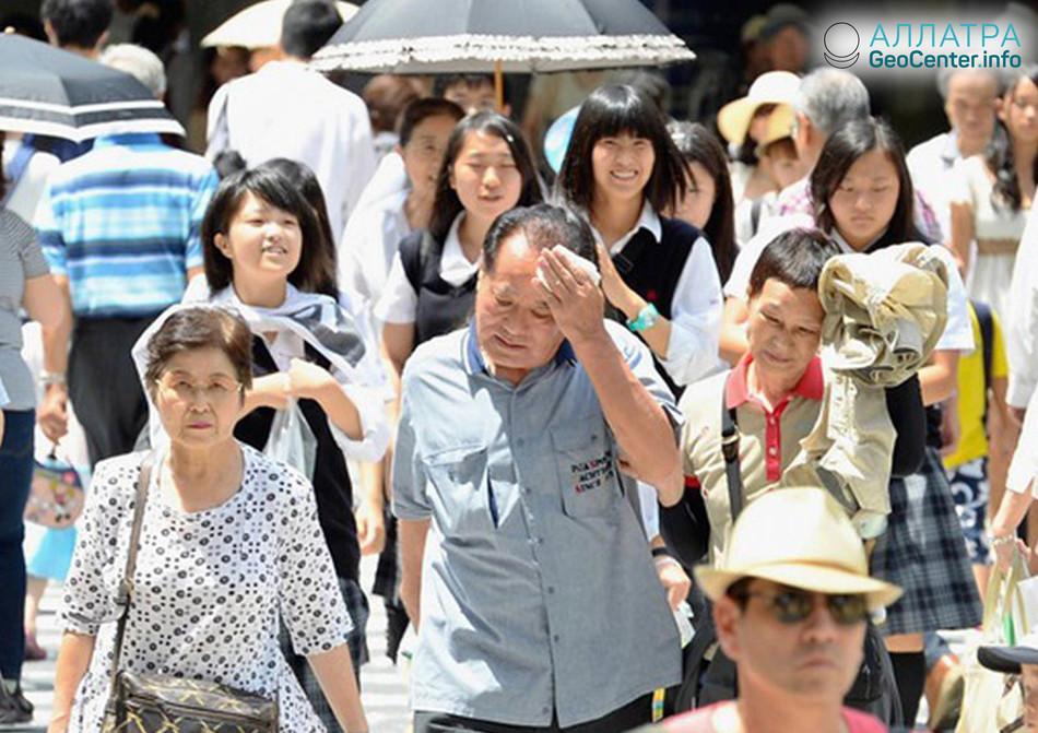 Аномальная жара в Японии, апрель 2018 г.