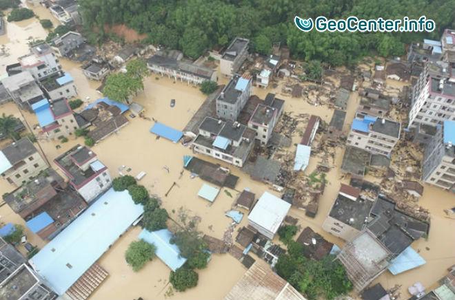 Наводнения в китайской провинции Гуандун, май 2017