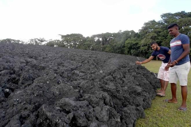 Активность грязевого вулкана в Тринидад и Тобаго, август 2018 г.