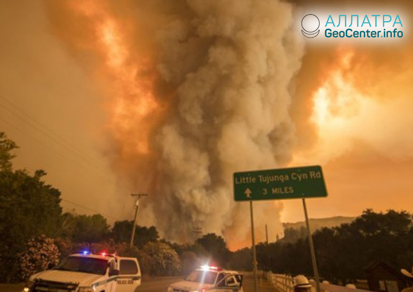 Пожары в 13 штатах США, июль 2018