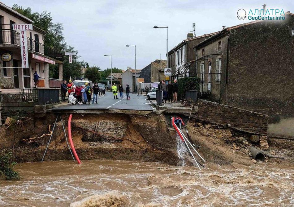 Наводнение во Франции, октябрь 2018 г.