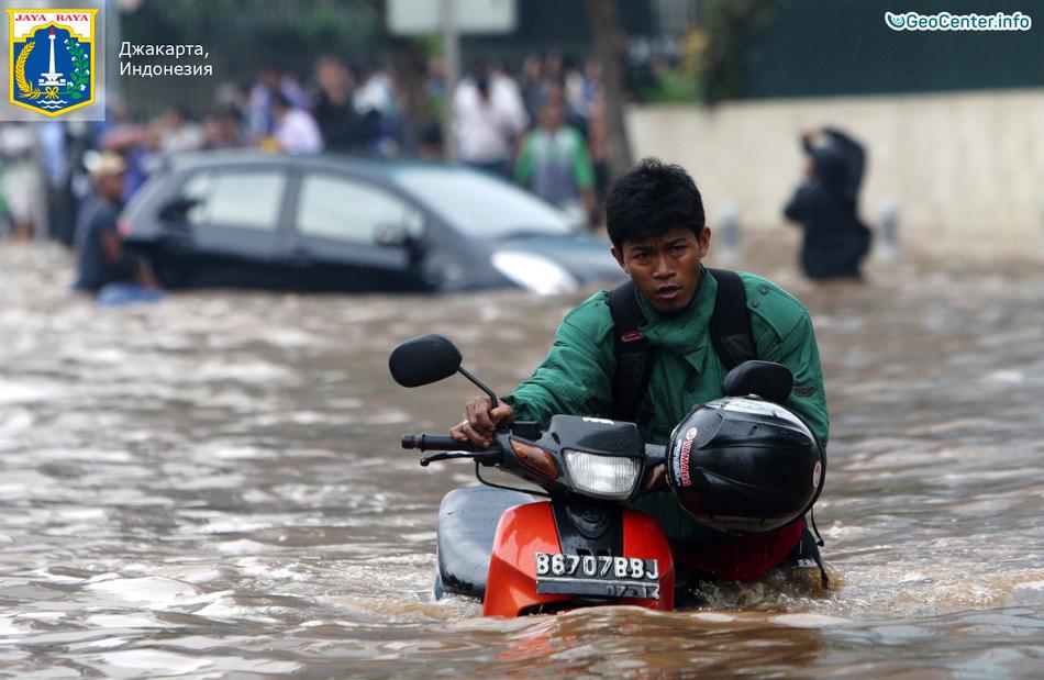 Наводнение в Джакарте, Индонезия