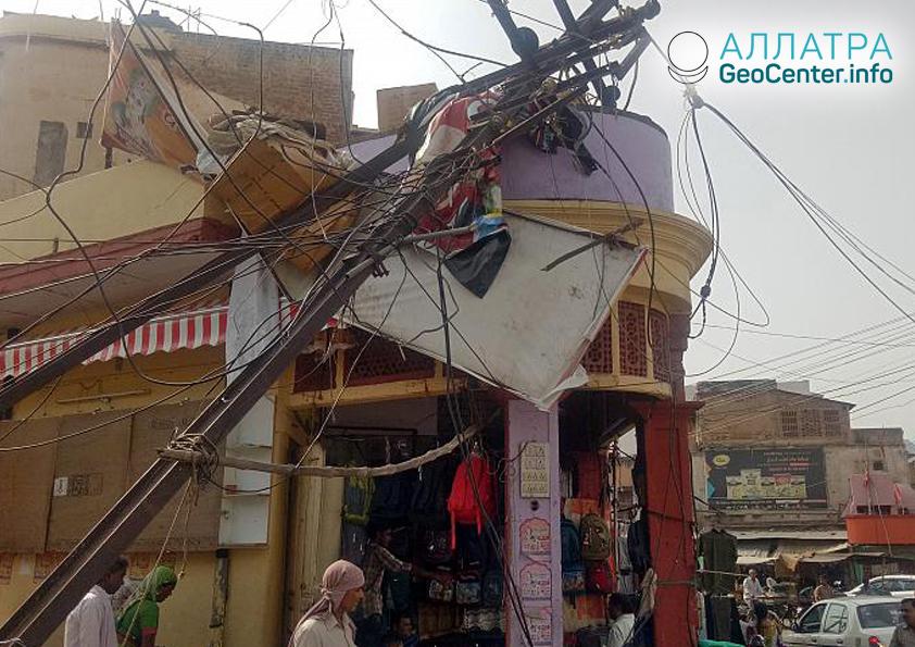Буря в Индии, май 2018