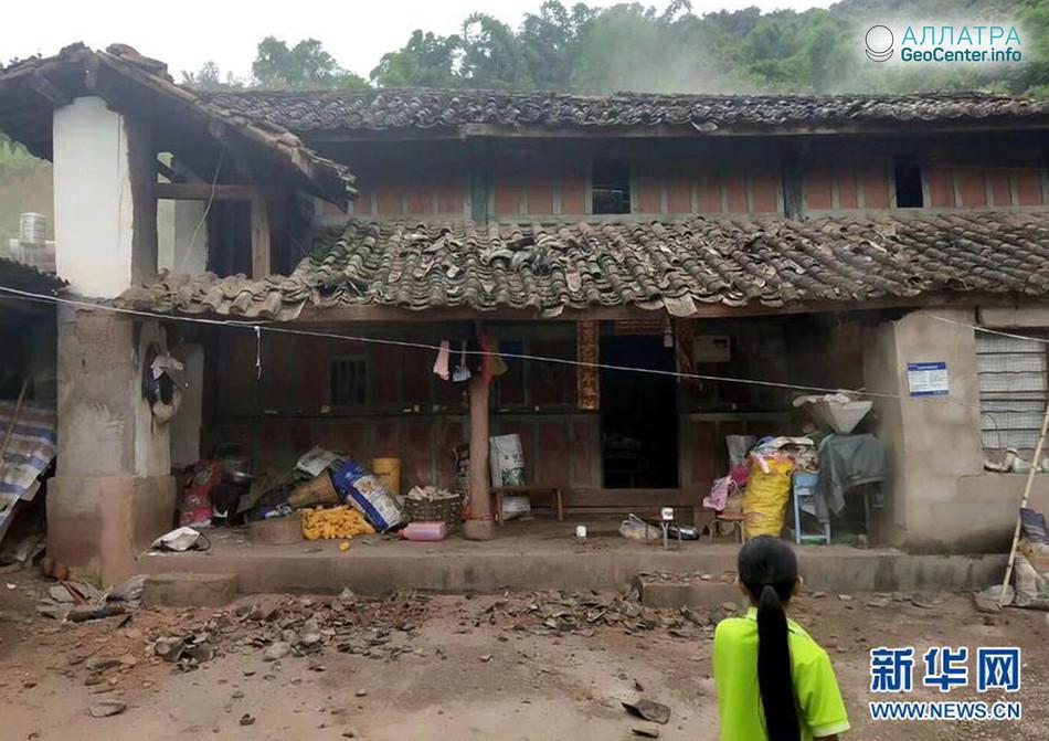 Новое крупное землетрясение в провинции Юньнань (Китай), сентябрь 2018 г.