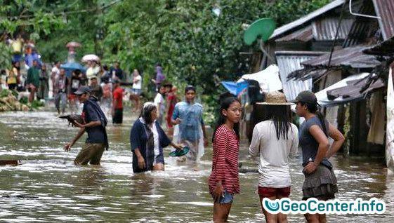 Паводки и оползни на Филиппинах.