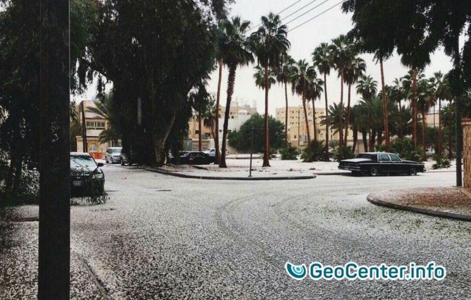 Снег и морозы  пришли в Саудовскую  Аравию, 28 ноября 2016