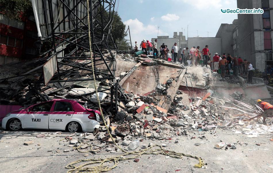 Последствия землетрясения в Мексике, сентябрь 2017