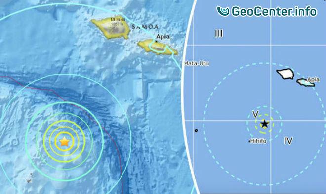 Мощное землетрясение магнитудой 6,9 на островах «Огненного кольца», 4 ноября 2017