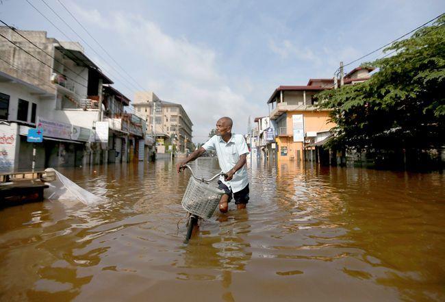 Сильные дожди на Шри-Ланке, май 2018 г.