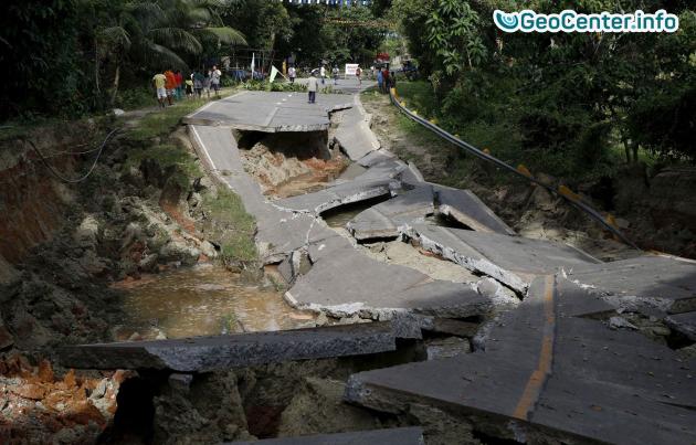 В Никарагуа произошло землетрясение 28 сентября 2016 года