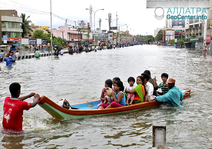 Наводнение в Индии, июль 2018 г.