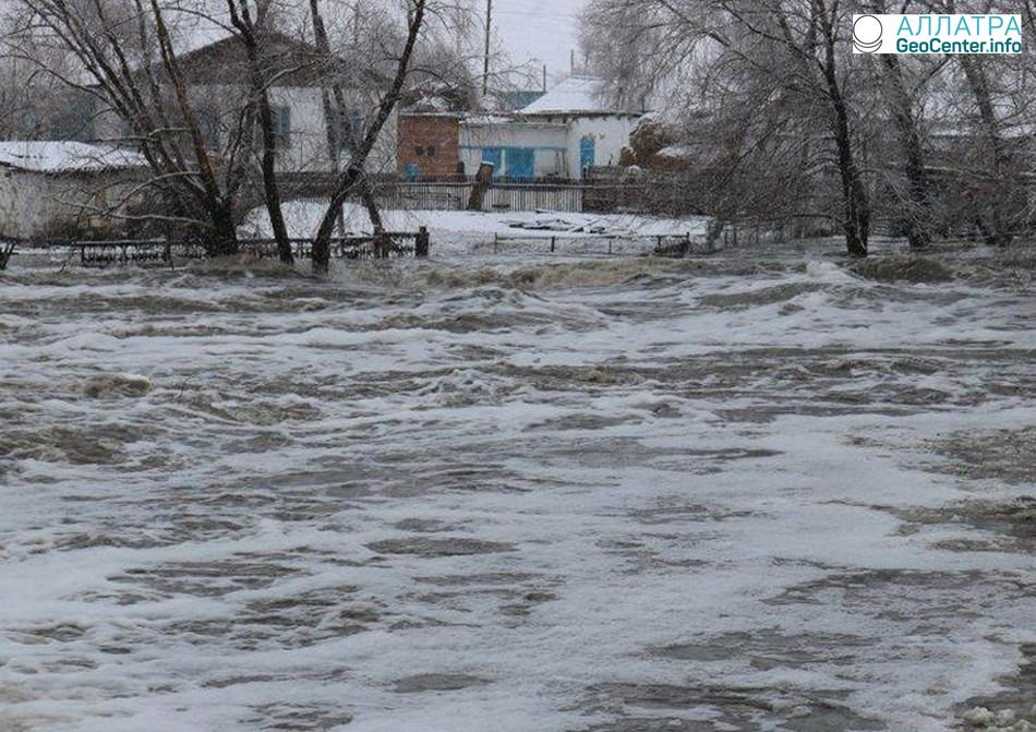 Затопления в Казахстане, март 2018 г.