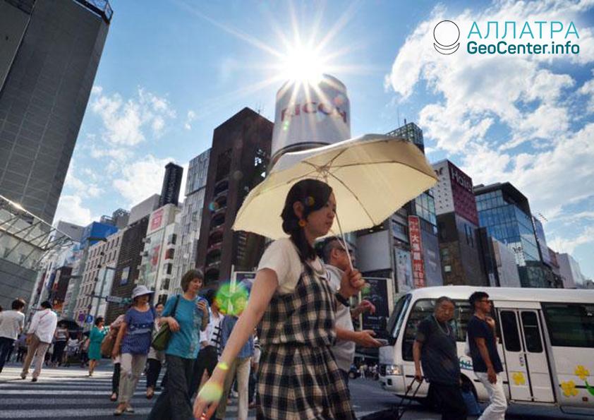 Аномальная жара в Японии, июль 2018 г.