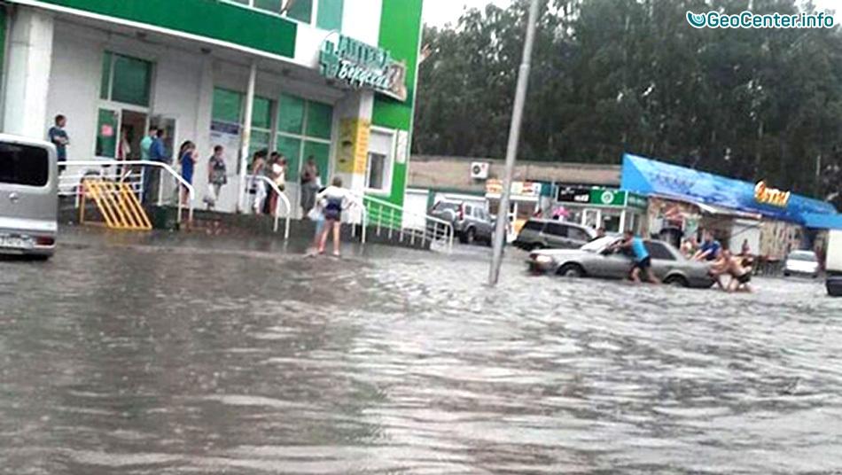 Сильный ливень в Новосибирске 30 июля 2016
