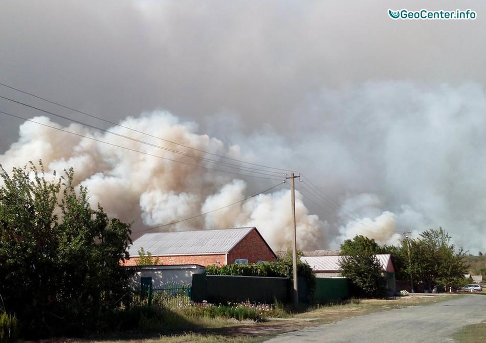 Природные пожары в Ростовской и в Волгоградской областях, Россия