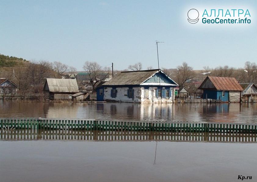 Паводковая ситуация в Башкирии, апрель 2018 г.