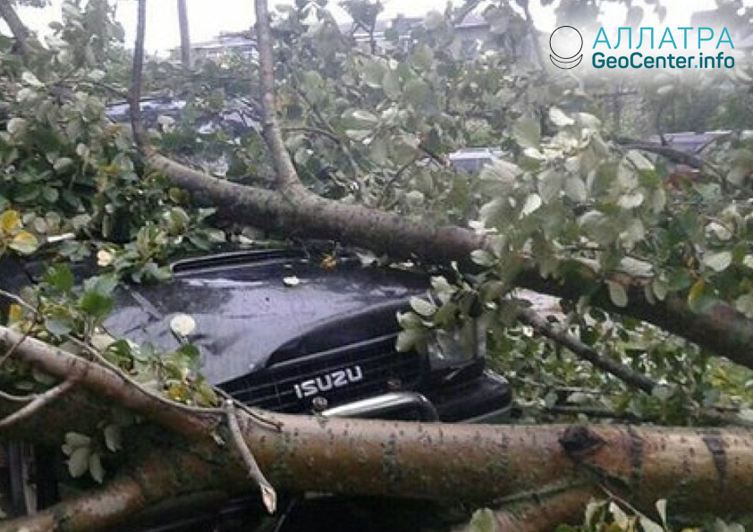 Тайфун «Джебби» в Хабаровском крае, сентябрь 2018