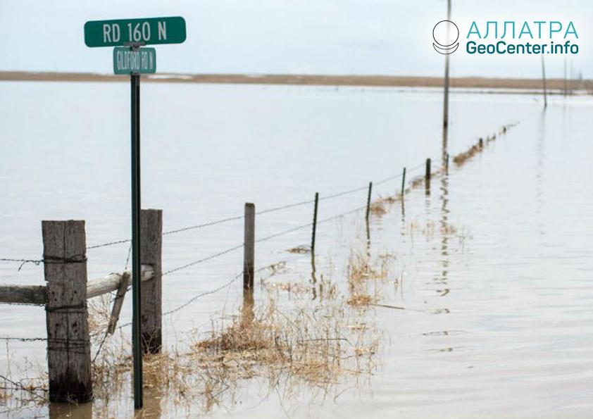 Наводнение в штате Монтана (США), апрель 2018