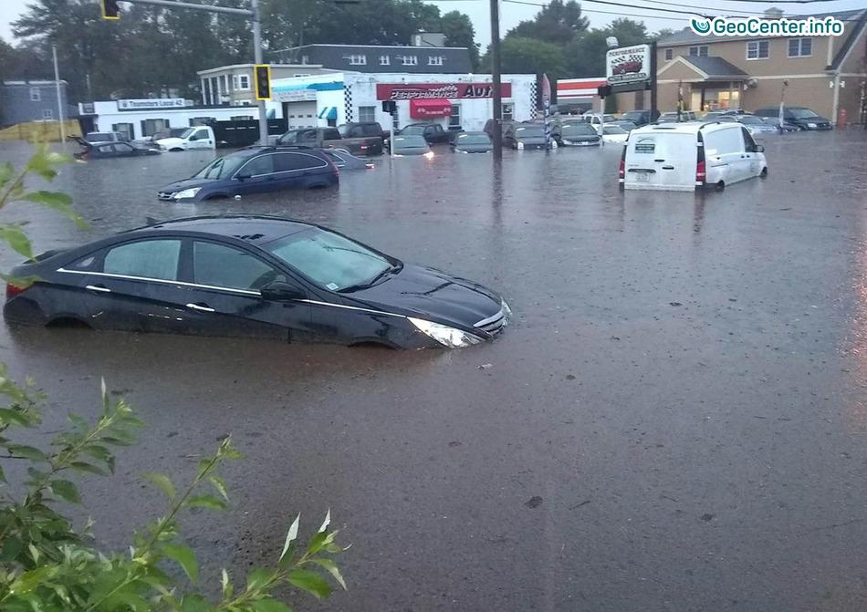 Наводнение в городе Линн, штат Массачусетс, США, 30 сентября 2017 года