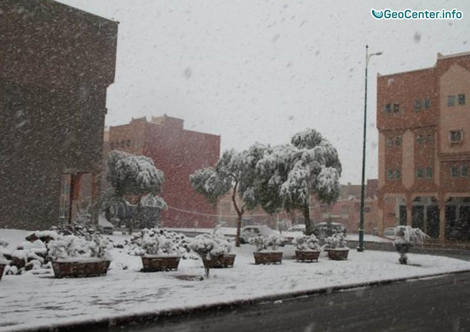 Впервые за 50 лет юг Марокко засыпало снегом, январь 2018 г.