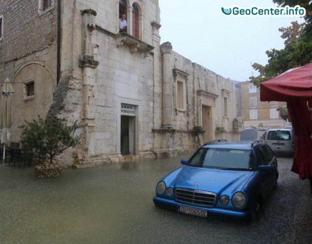 Ливневый паводок в Задаре (Хорватия) 11 сентября 2017 года