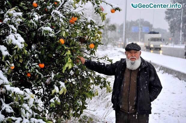 Снегопады в Анталии