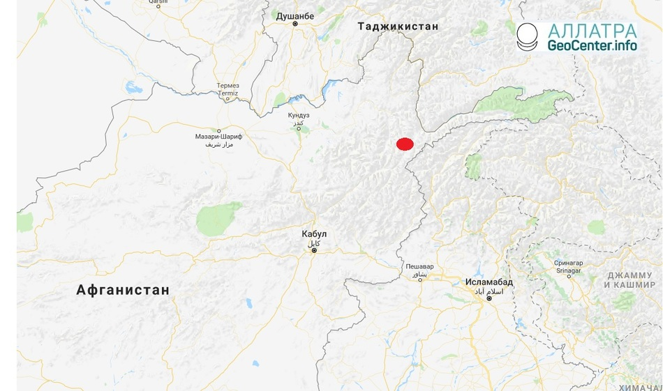 Землетрясение магнитудой 5,2, Афганистан, 28 апреля 2018 г.