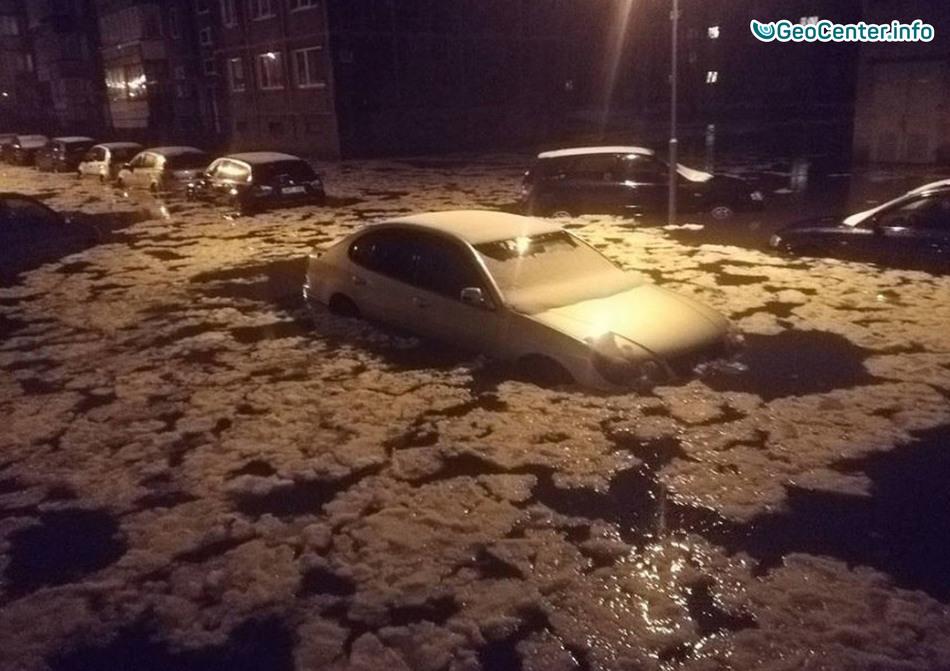 Наводнение в результате таяния снега, Литва, 13 ноября 2017 года