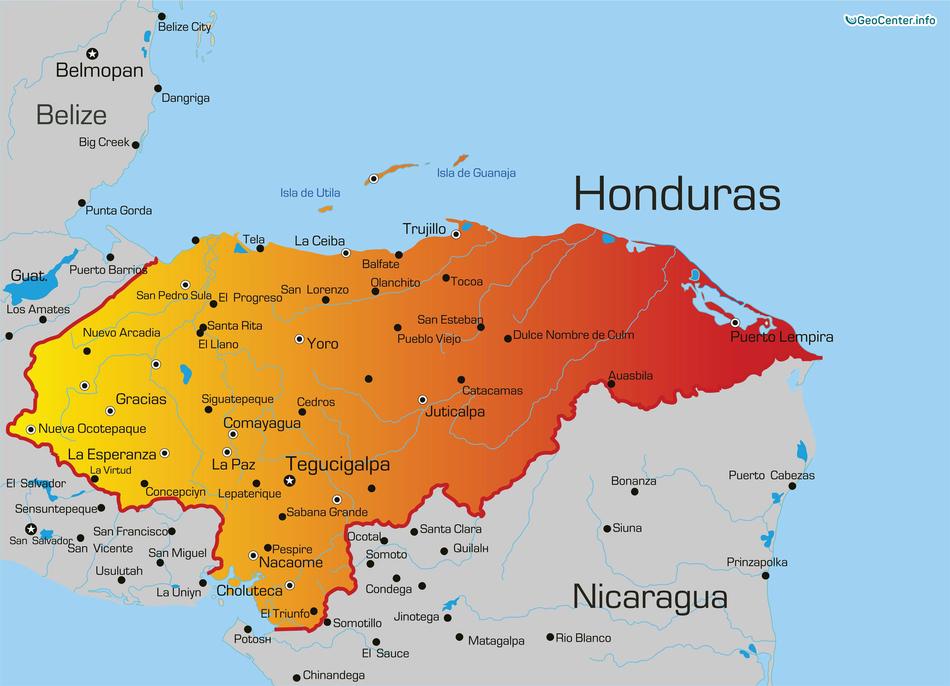 Ливни и наводнение в Гондурасе, Центральная Америка