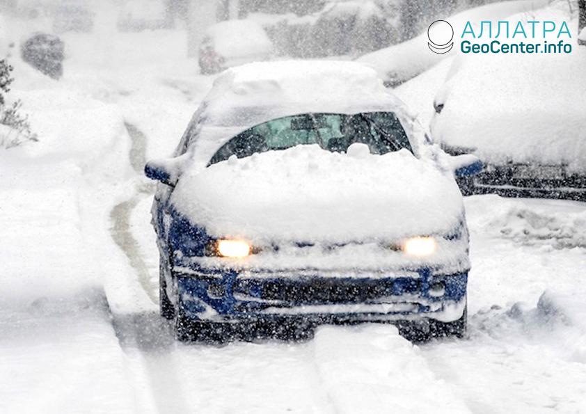 Снегопады в Ростовской области, ноябрь 2018