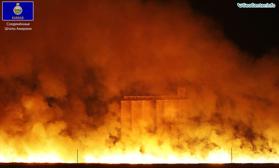 Лесные пожары на Среднем Западе США