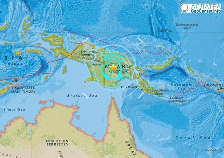Серия землетрясений в Папуа-Новая Гвинея, апрель 2018 года