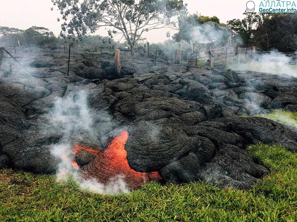 Новости с Гавайских островов. Карта распределения диоксида серы вокруг вулкана Килауэа