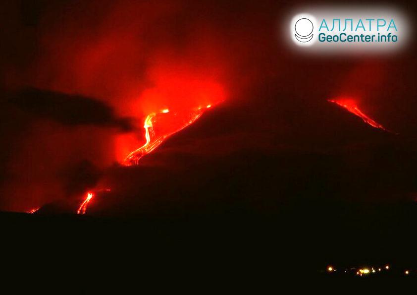 Zvýšená aktivita vulkánu Etna, květen 2019