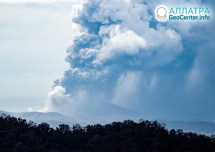 Активизация вулкана на Филиппинах, январь 2020