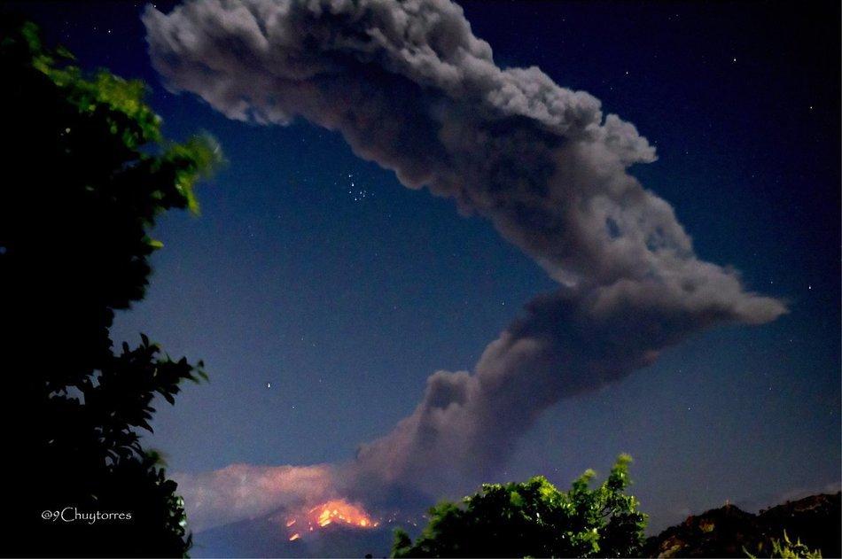 Aktivace a erupce mexické sopky Popocatépetl, březen 2019.