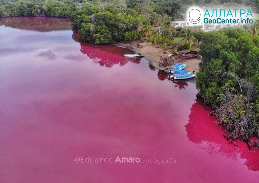 Anomália v mexickej lagúne, október 2019