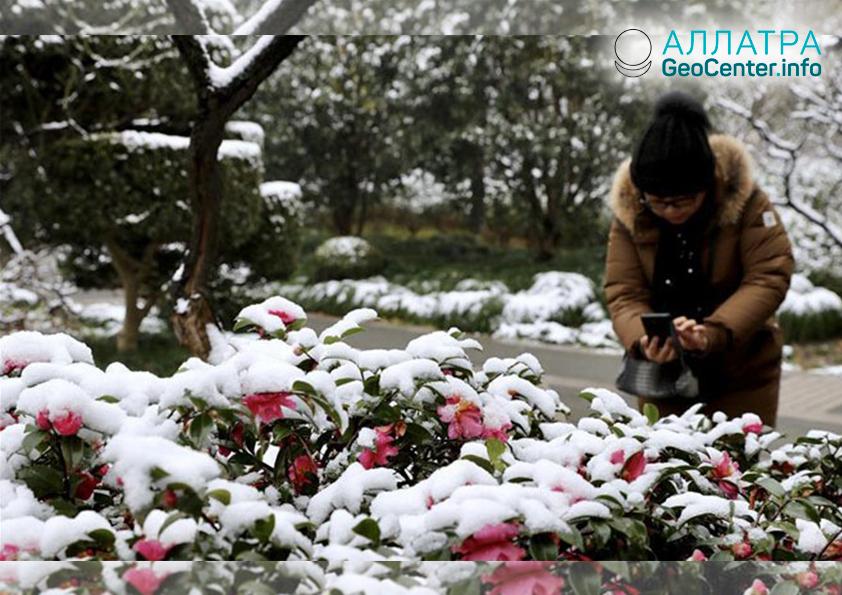 Аномальные снегопады в Китае в первые дни Нового Года