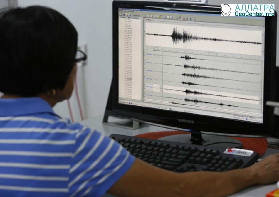 В Индонезии произошло землетрясение магнитудой 5,0, 13 марта 2018 года