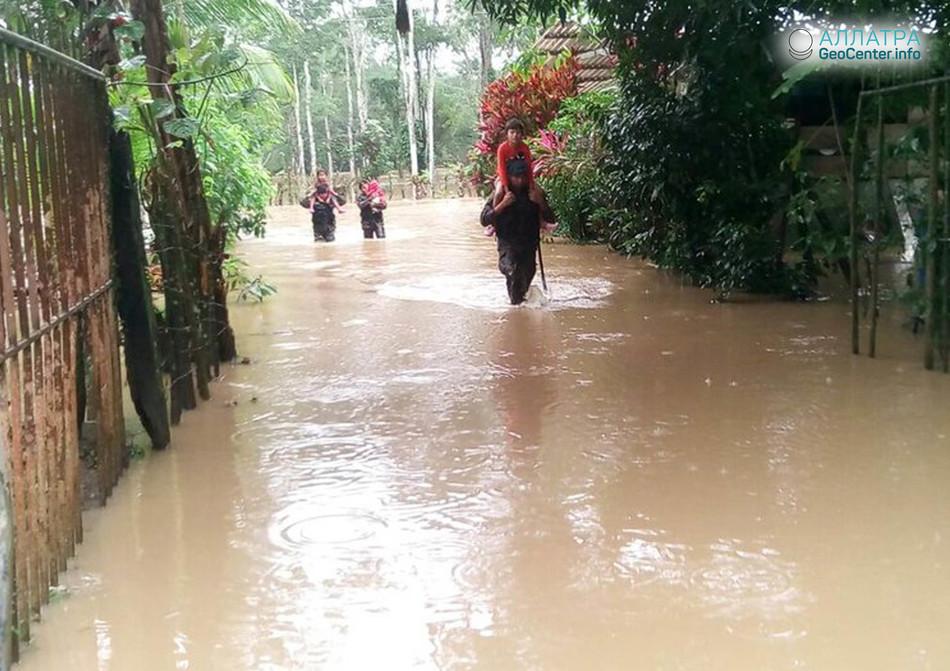 Наводнение в Гватемале, май 2018