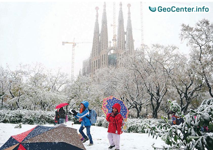 Снегопад в Испании, 5 февраля 2018 г.