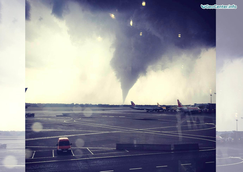 Торнадо и град в Австрии