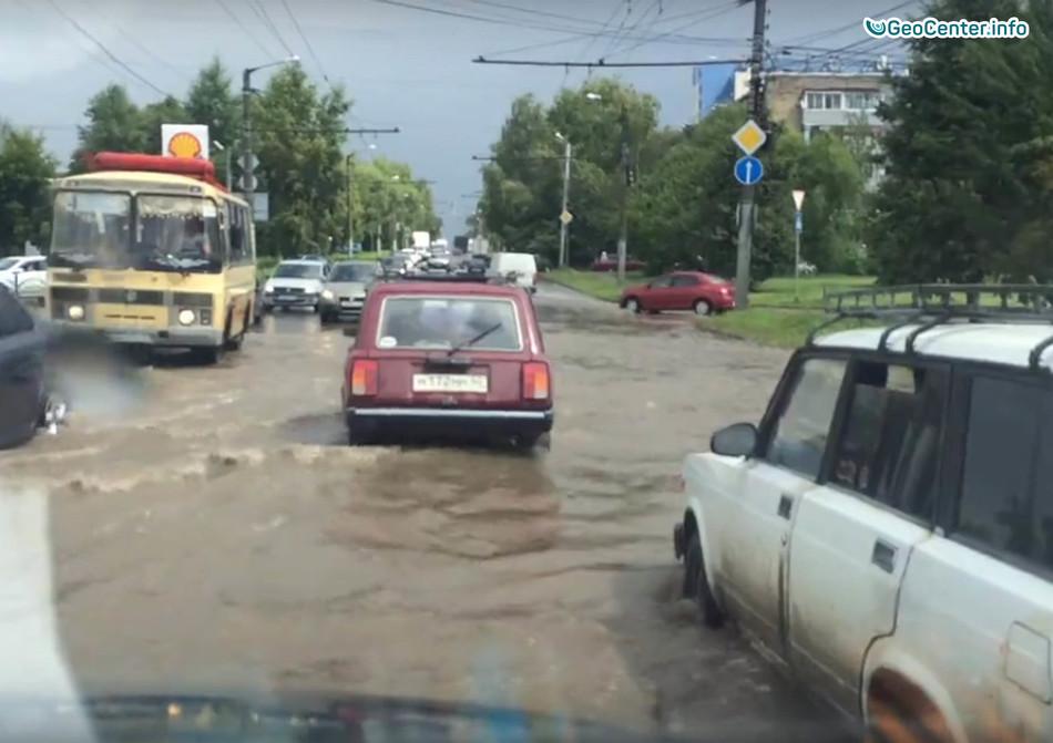 Сильные ливни в Калуге и в Самаре, 21 июля 2017 года